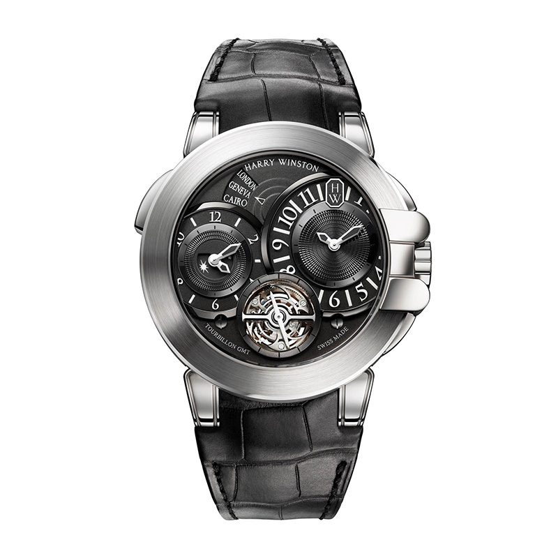 Harry Winston Ocean GMT Tourbillon White Gold Watch