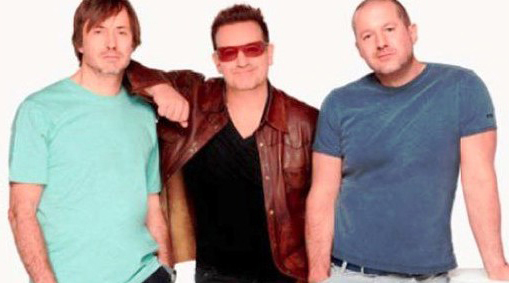 Marc Newson, Bono, Sir Jonathan Ive