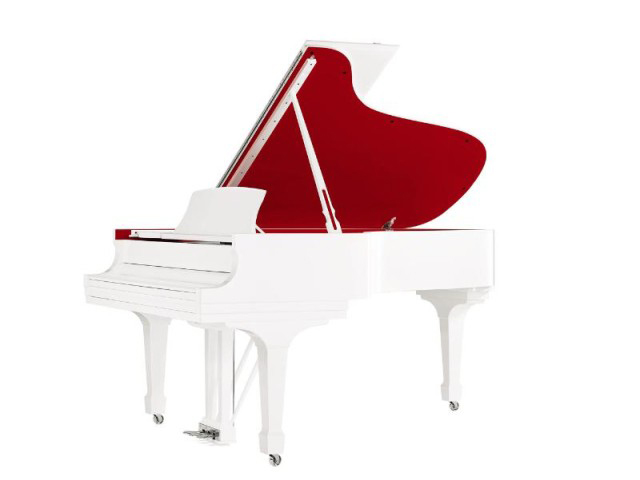 Steinway And Sons Parlor Grand Piano For Red