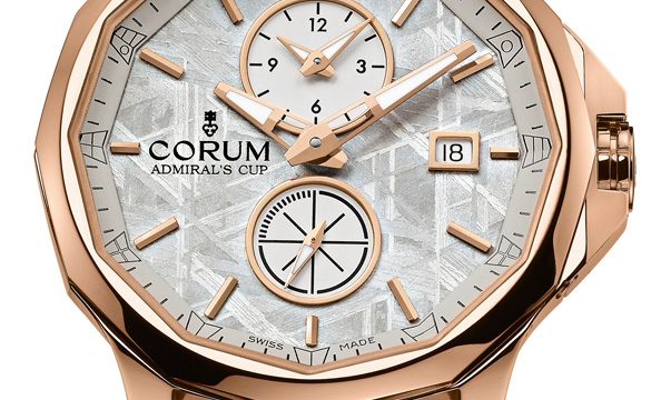 Corum Admiral's Cup Legend 42 Meteorite Dual Time Watch Dial
