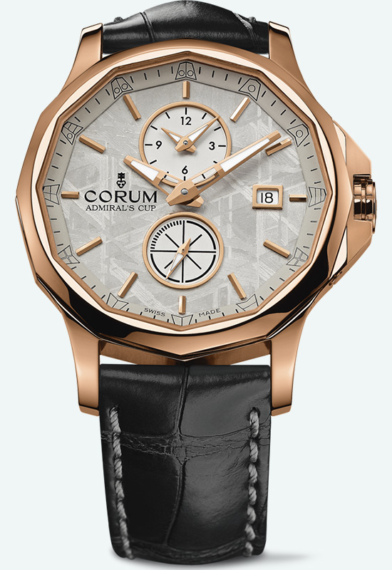 Corum Admiral's Cup Legend 42 Meteorite Dual Time Watch