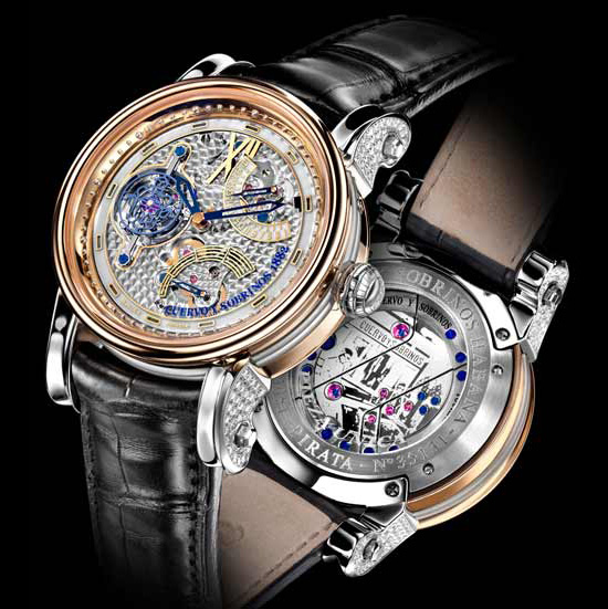 Cuervo y Sobrinos Pirata Tourbillon Watch