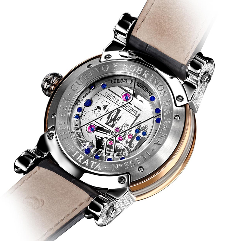 Cuervo y Sobrinos Pirata Tourbillon Watch Caseback