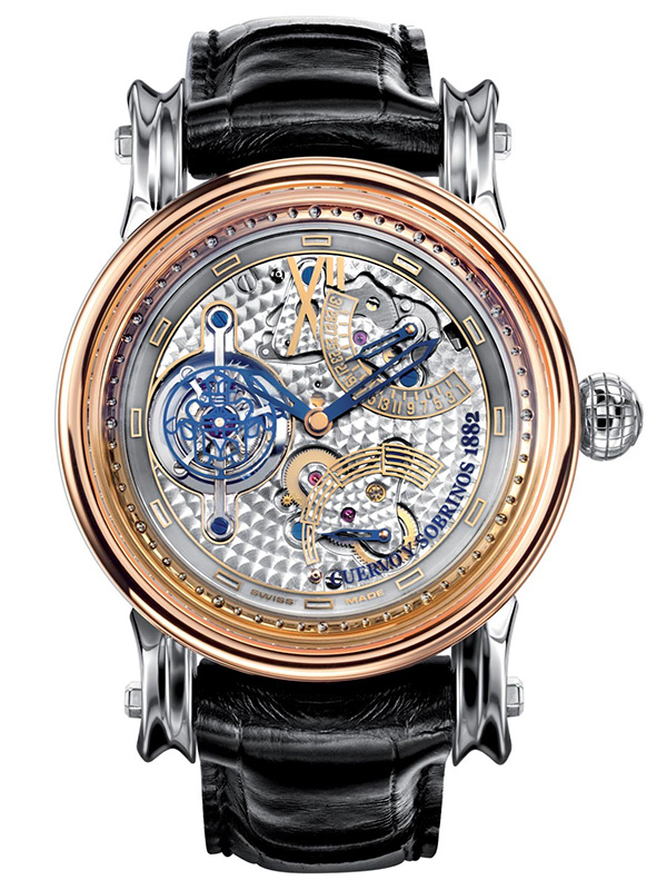 Cuervo y Sobrinos Pirata Tourbillon Watch Front