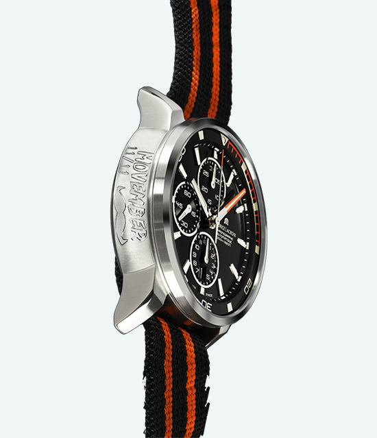 Maurice Lacroix Limited Edition Pontos S Diver Movember Watch Side