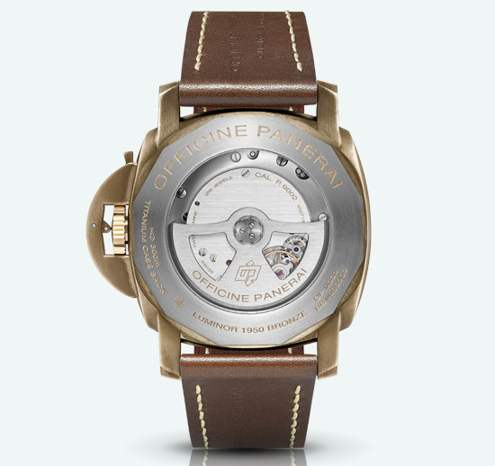 Panerai Luminor Submersible 1950 Automatic Bronzo Watch Caseback