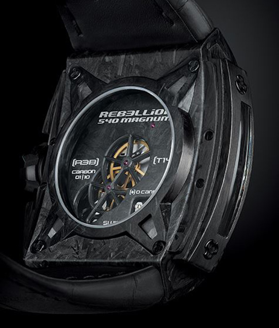Rebellion 540 Magnum Tourbillon Watch Back