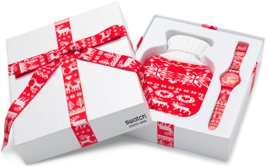 Swatch Red Knit Box