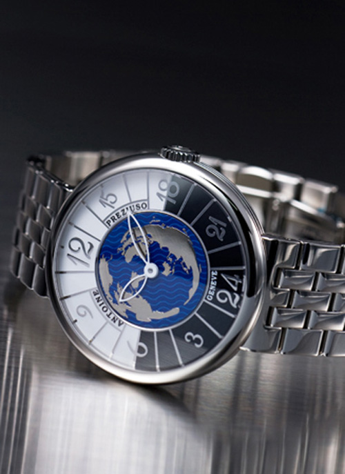 Antoine Preziuso Transworld Round Steel Watch