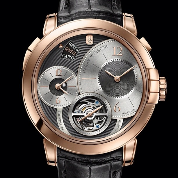 Harry Winston Midnight Tourbillon GMT Limited Edition Geneva Watch