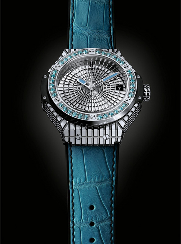 "Hublot Big Bang Caviar ""Lady 305"" Steel Watch"