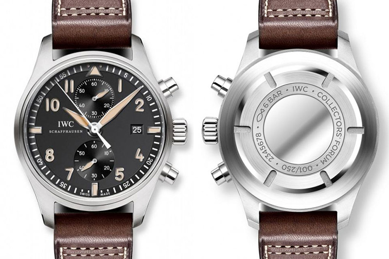 IWC Pilots Chronograph Edition Collectors Watch Front And Back