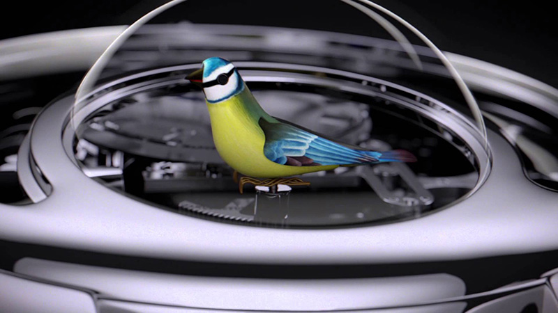 Jaquet Droz Charming Bird Watch Detail