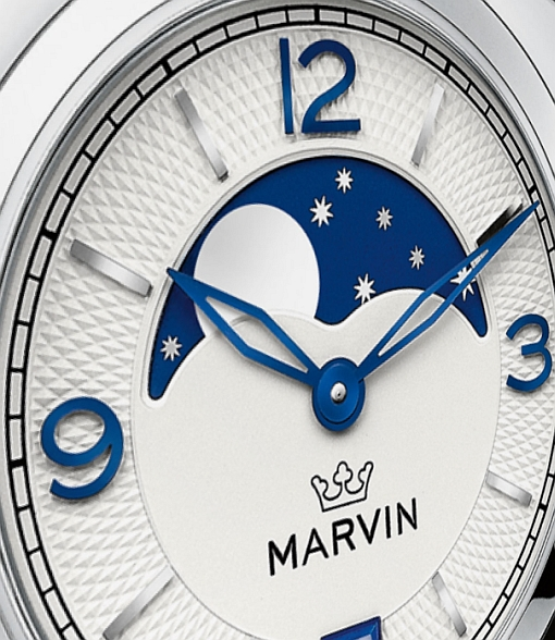 Marvin Malton Mini-Cushion Moonphase Watch Dial