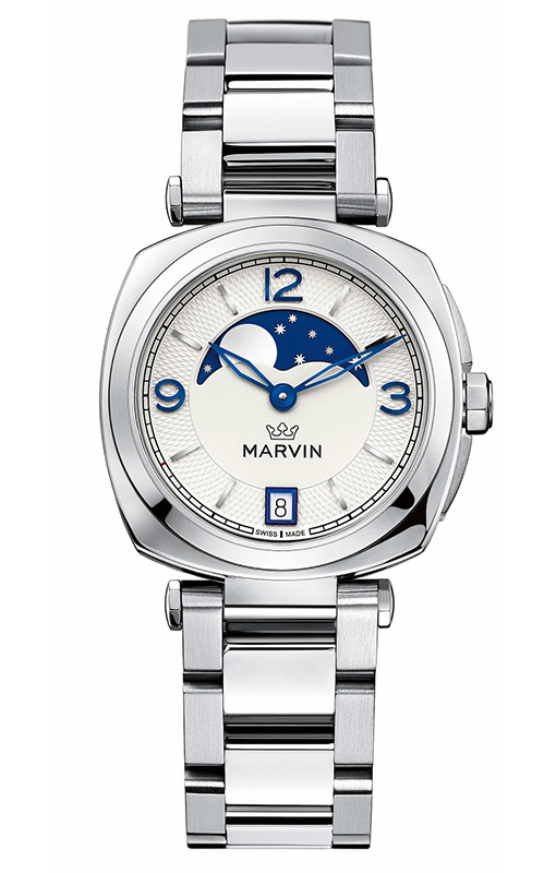 Marvin Malton Mini-Cushion Moonphase Watch