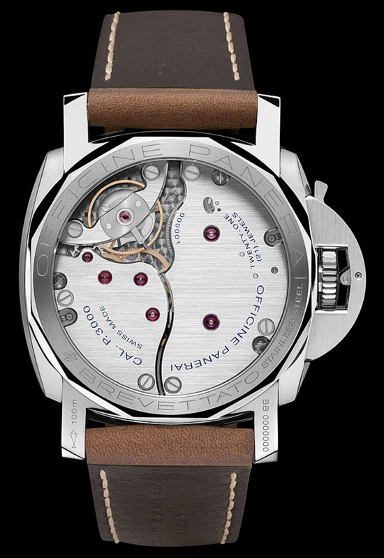 Panerai Luminor 1950 Left Handed 3 Days PAM557 Watch Caseback