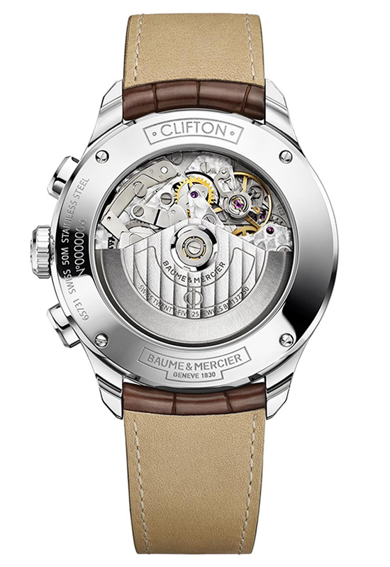 Baume & Mercier Clifton Retrograde 10149 Case Back Watch