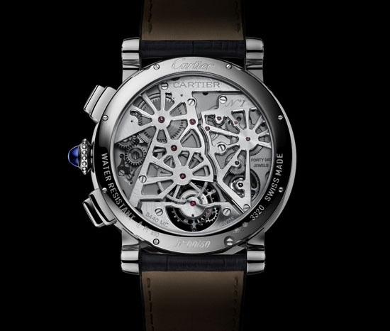 Cartier Rotonde de Cartier Earth Moon Watch Caseback