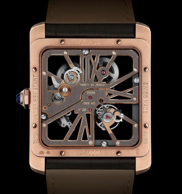 Cartier Tank MC Skeleton Watch Caseback