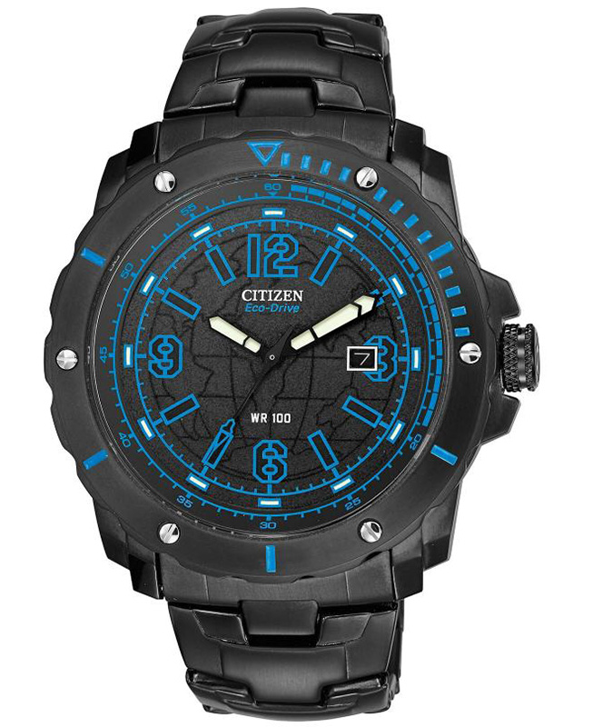 Citizen Eco-Drive Military BME Black Dial (Blue Accents) Watch