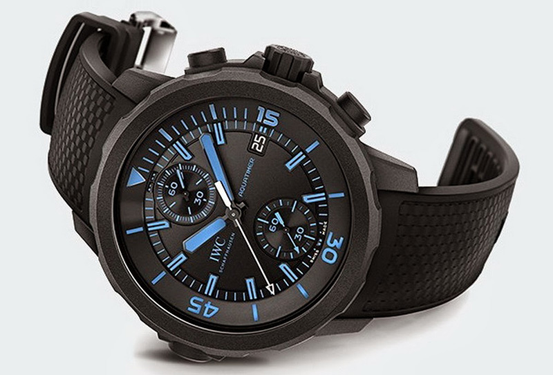 "IWC Aquatimer Chronograph Edition ""50 Years Science for Galapagos"" Watch Front"