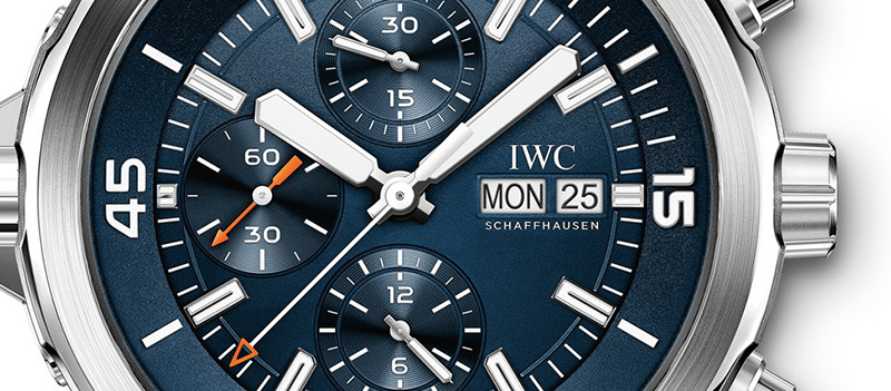 "IWC Aquatimer Chronograph Edition ""Expedition Jacques-Yves Cousteau"" Watch Dial"