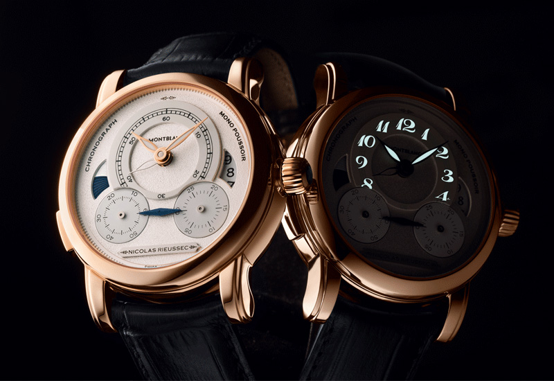 Montblanc Homage to Nicolas Rieussec Red Gold Watch