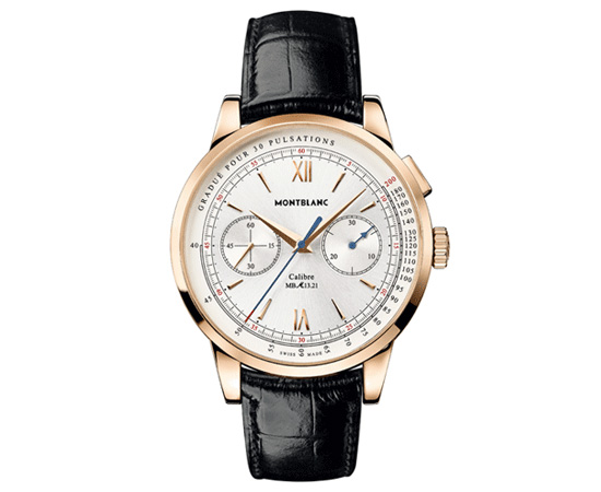 Montblanc Meisterstuck Heritage Pulsograph Watch Front