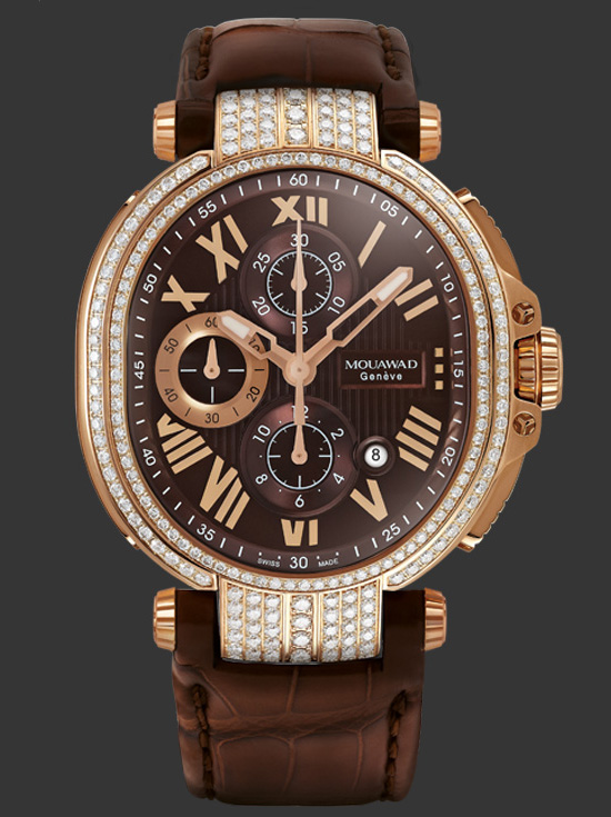 Mouawad Grande Ellipse Royal Chocolate Dial Watch