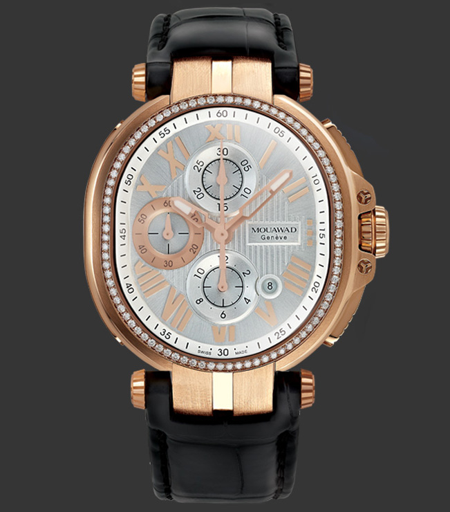 Mouawad Grande Ellipse Royal Silver Dial Watch