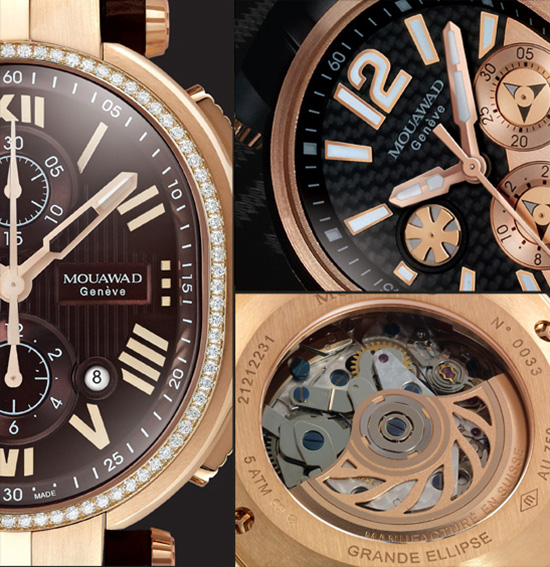 Mouawad Grande Ellipse Royal Chronograph Watch