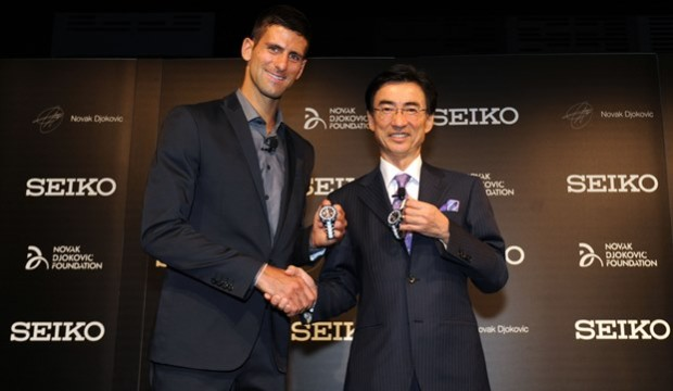 Seiko CEO And Novak Djokovic