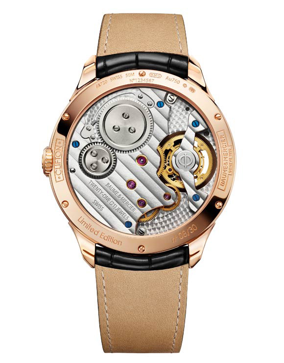 Baume & Mercier Clifton 1892 Flying Tourbillon Watch Back
