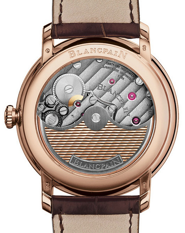 Blancpain Villeret 2014 Watch Case Back