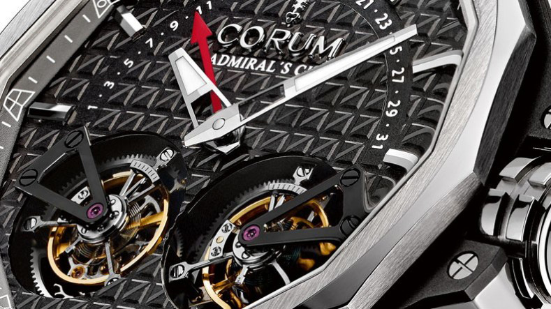 Corum Admiral's Cup AC-One 45 Double Tourbillon Watch Dial