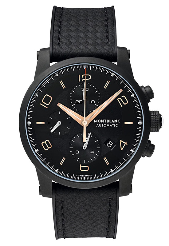 Montblanc TimeWalker Extreme Chronograph DLC Watch Front