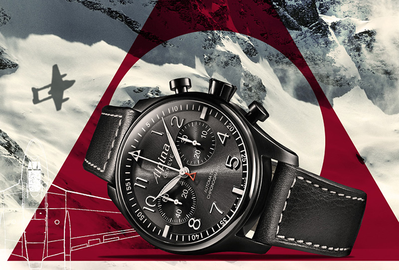 Alpina Startimer Pilot Automatic Chronograph Black Star Watch