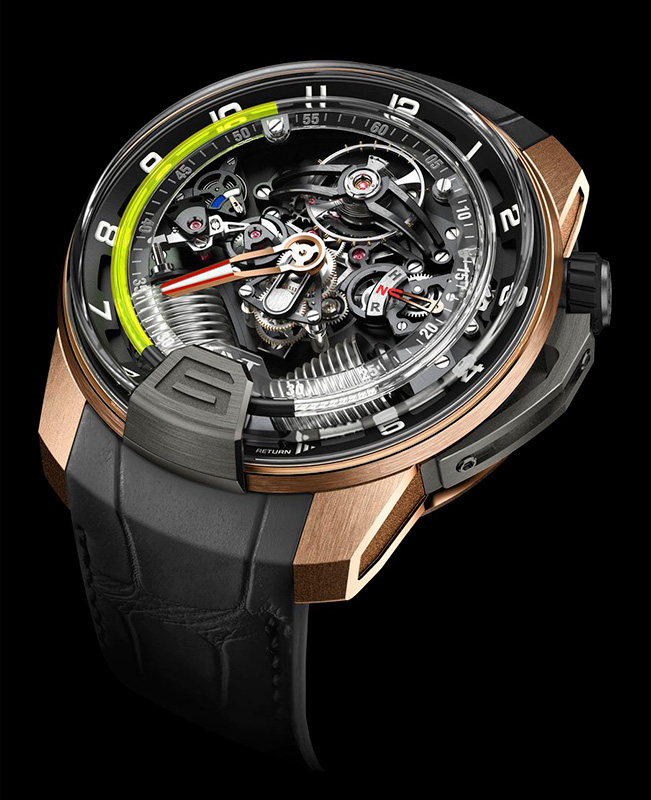 HYT H2 Black DLC Red Gold Green Watch