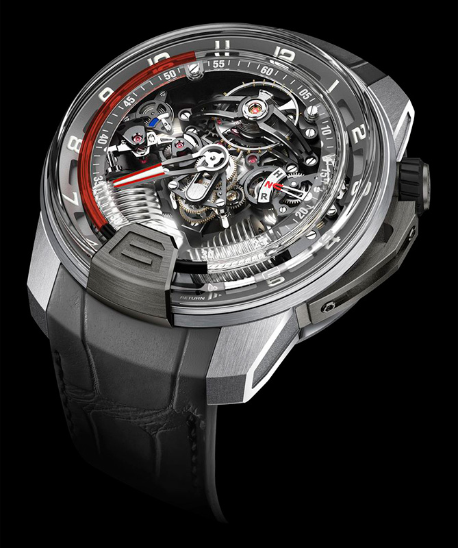 HYT H2 Titanium White Gold Red Watch