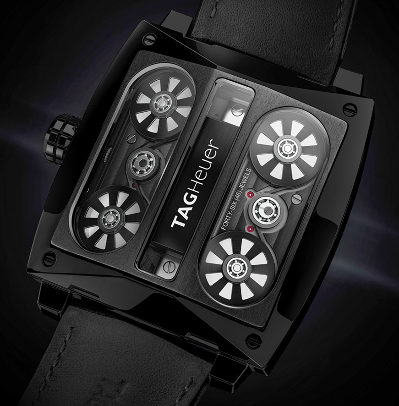 Tag Heuer Monaco V4 Tourbillon Watch Back