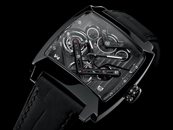 Tag Heuer Monaco V4 Tourbillon Watch Front