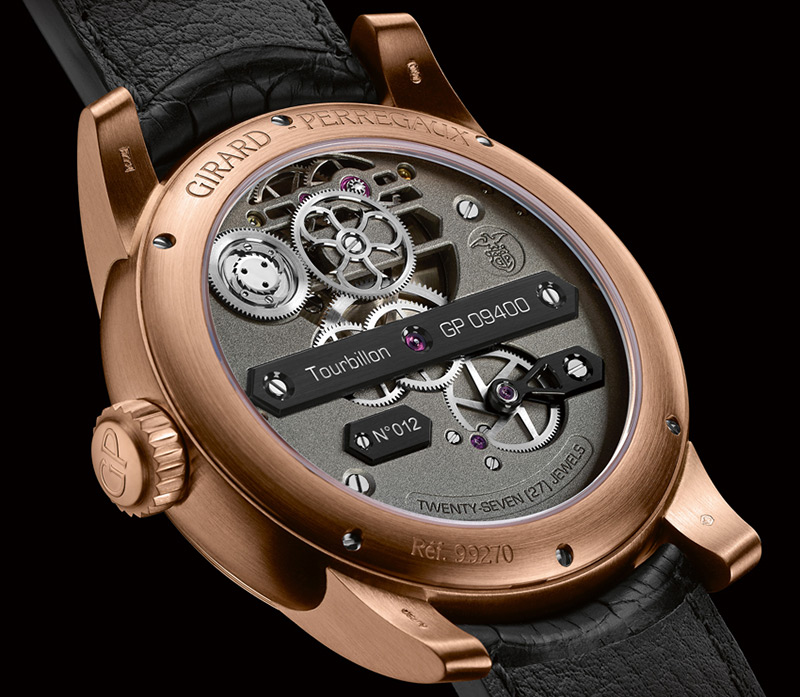 Girard-Perregaux Neo-Tourbillon with Three Bridges Watch Case Back