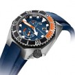 The new Girard-Perregaux Sea Hawk in coral orange and cobalt blue
