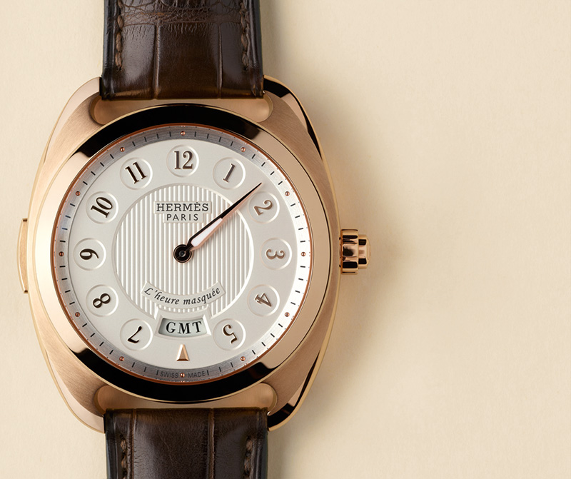 Hermes Dressage L'heure Masquee Red Gold Watch