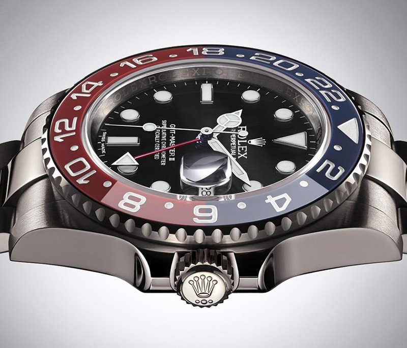 Rolex Oyster Perpetual GMT-Master II Watch Side