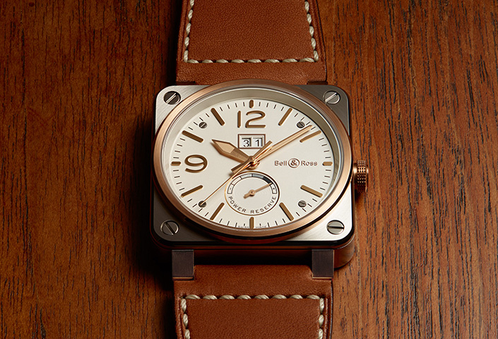 bell & Ross BR 03-90 Steel and Gold Watch