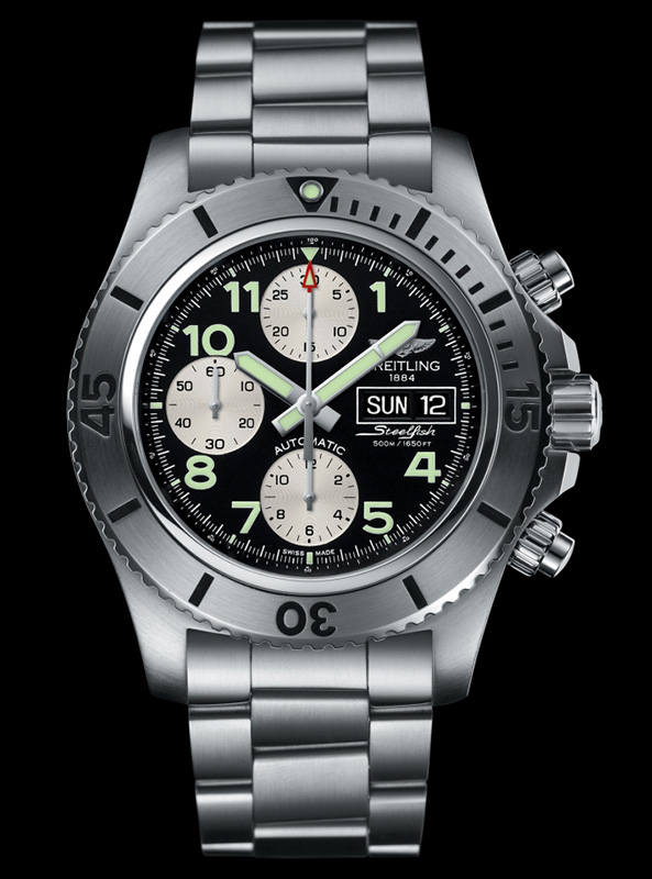 Breitling Superocean Chronograph Steelfish Watch Front