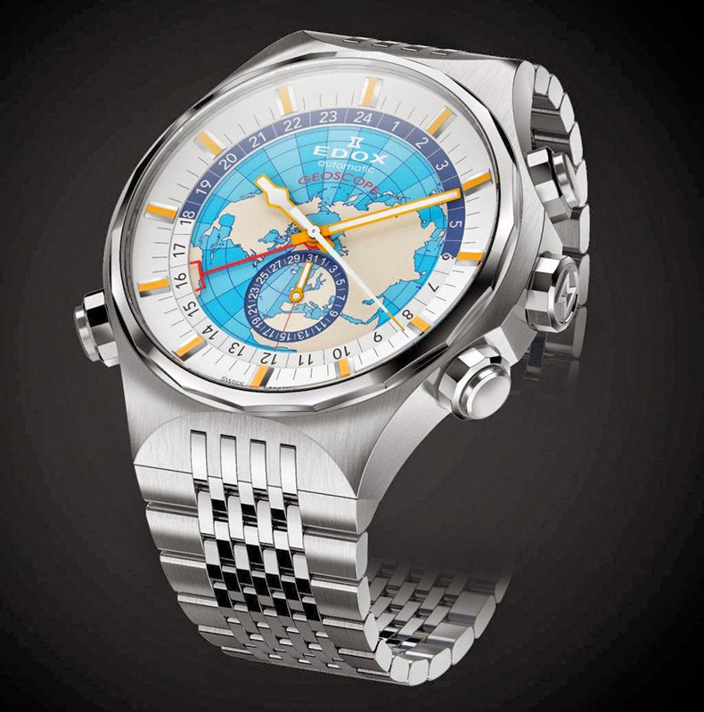 Edox Geoscope GMT Automatic Watch Front