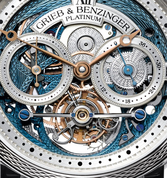 Grieb & Benzinger Blue Merit Tourbillon Watch Dial