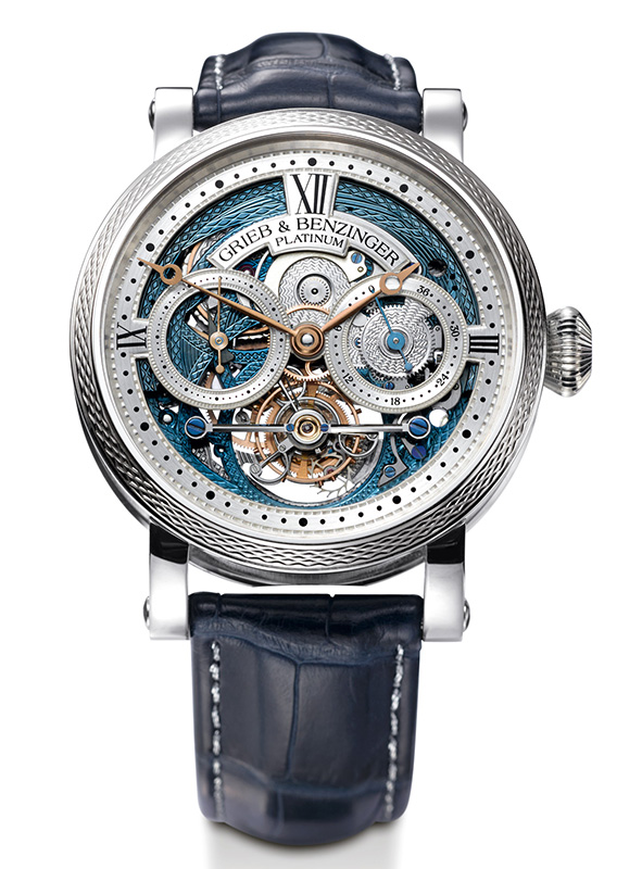 Grieb & Benzinger Blue Merit Tourbillon Watch Front
